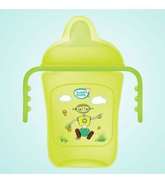 buddsbuddy PRemium 2 Handle Sippy Cup with Hard Spout (Big), Green, (Age: Baby Teethers, Baby Needs, Cooking Oil, Good Grips, Manners, Drinking Water, Cups, Handle, Good Things