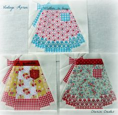 Charise Creates: A Woman's Work    Gorgeous paper pieced aprons