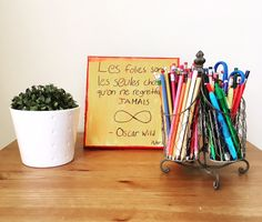 Back to school! Cute way to keep pencils, pens, scissors and more organized and quick & easy to find during homework time. Shop our tin & wire utensil holder through our link in bio. Time Shop, Utensil Holder, Home Organization, Home Gifts, Homework, Scissors, Online Boutiques, Pens, Back To School