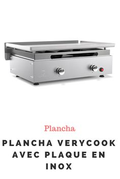 Plancha Verycook avec plaque en Inox Grill Party, Plaque, Grilling, Office Supplies, The Originals, Kitchen, Ideas, Planks, Creative Food
