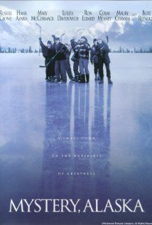 Mystery, Alaska - IMDb- Directed by Jay Roach. With Russell Crowe, Burt Reynolds, Hank Azaria, Mary McCormack. This comedy is about the residents of a small town who get over-excited when their hockey team gets chosen to host a televised event Funny Movies, Old Movies, Great Movies, Awesome Movies, Movies Showing, Movies And Tv Shows, Movies To Watch, Alaska, Picture Company