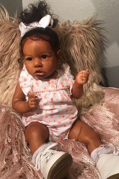 Dollish Little Justice Reborn Baby Doll Girl,Realistic African American Baby Doll Reborn Babies Black, African American Reborn Babies, Reborn Toddler Girl, Reborn Baby Boy Dolls, Black Baby Dolls, Newborn Baby Dolls, Black Babies, Black Girls, Baby Dolls For Sale