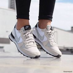 brand new f8796 71574 Color  Light Bone   Gray Mist - White - Black Waffle OutsoleAfter the first  appearance of the Nike Internationalist in the late the Running Legend, ...