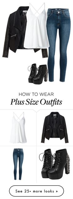 """Untitled #995"" by desyrae-carstensen on Polyvore featuring Zizzi and Dondup"