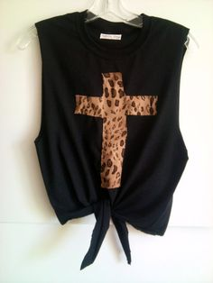 Customize Your Own Print Leopard Cross Crop by InfinitynBeyondx, $25.00
