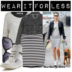 A budget friendly look inspired by Jessica Biel's street style.  This set costs $130 CDN!