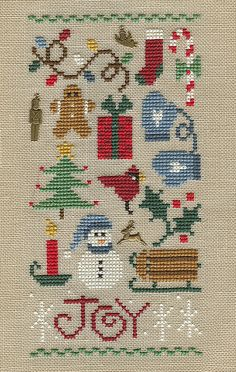 christmas sampler insp. looks like Lizzie Kate design??