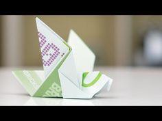 DIY Geldschein Origami Vogel - Geschenkidee - YouTube