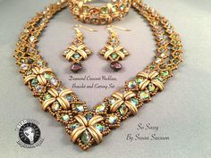 Designer's Note: Feel free to sell what you make with this pattern, but please do not copy, share or teach this pattern without my written permission. Level: Advanced Beginner Techniques: Right angle weave This pattern will teach you how to make the necklace, bracelet and
