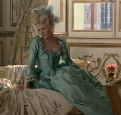 Marie Antoinette in a green silk dress | All things About Marie | Rosamaria G Frangini