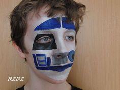 r2d2 face paint - Google Search