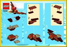 LEGO 7209 Flying Dino instructions displayed page by page to help you build this amazing LEGO Make and Create set Lego Design, Legos, Modele Lego, Lego Storage, Storage Ideas, Lego Animals, Lego Jurassic World, Lego For Kids, Lego Room