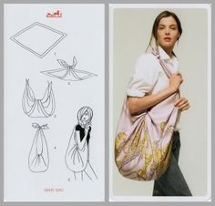 crea una borsa con il foulard