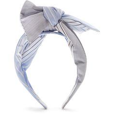 Benoît Missolin Pekin bow headband (115 CAD) ❤ liked on Polyvore featuring accessories, hair accessories, blue, bow headwrap, blue hair accessories, hair band accessories, bow hair accessories and hair band headband