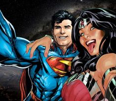 Are you a Superman/Wonder Woman shipper? Do you want to find others like you? Do you want to talk about Kal and Diana, read about them, and write about them? This is your portal to fantastic worlds Find Fabulous images, stories and so much more Please. Dc Comics Art, Comics Girls, Marvel Dc Comics, Comic Book Characters, Comic Books Art, Comic Art, Superman Wonder Woman, Batman And Superman, Batman Arkham