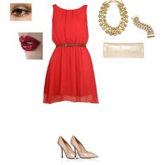 """The Lady in Red"" by elizabeth42010 on Polyvore"