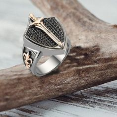 Tendance Joaillerie 2017 jewelry mens ring personalized jewelry hanmade jewelry knife mens gift for men wedding gift boho rings gothic jewelry sterling silver ring