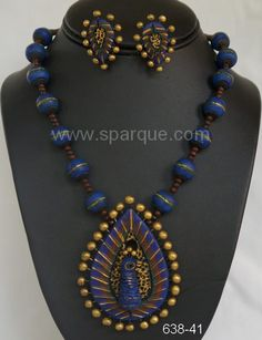 """Sparque Studio @ www.sparque.com specializes in uniquely designed handcrafted and handpainted organic terracotta jewelry made from clay( baked earth ). Being totally eco-friendly, we can contribute our mite in preserving nature and can proudly say """"we care!"""