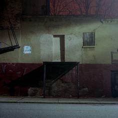 #photography #outdoor #medium #environment #urban #lamplight #moonlight #patrickjoust #red #yellow #street