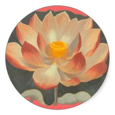 Lotus Blossom, Lilypad, Water Lily Buddhist Symbol Sticker