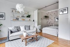 Lovely light mixed with very good organisation skills make this 35 m2 apartment extremely dreamy and not suffocating at all. alexanderwhite