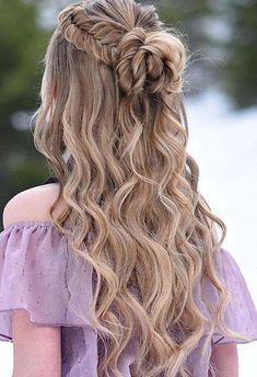 30 Wedding Hairstyles Half Up Half Down With Curls And Braid Hochzeitsfrisuren halb hoch halb runter Ball Hairstyles, Homecoming Hairstyles, Teen Hairstyles, Braided Hairstyles, Graduation Hairstyles, Evening Hairstyles, Elegant Hairstyles, Natural Hairstyles, Halloween Hairstyles