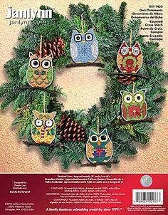 Janlynn Cross Stitch Kit - Owl Ornaments