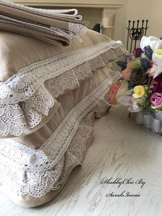 Shabby Chic, Blanket, Bed, Home, Blankets, Stream Bed, Ad Home, Homes, Comforter