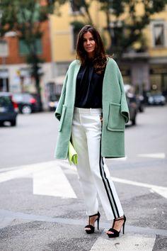 Modne płaszcze - wiosna 2015, fot. Imaxtree