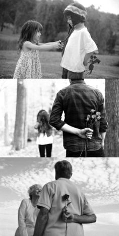 similar #pictures across stages of a #relationship. #heartwarming