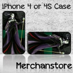 Maleficent Gothic Princes Custom iPhone 4 or 4S Case Cover