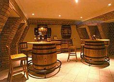 barrel Bar Lounge Ideas | barrel stand oak stave bar stool our full line barrel products ...