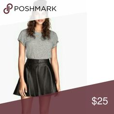 H&M Faux Leather Solid Skirts A short black faux leather flared skirt adds edge to any look. H&M Divided H&M Skirts Mini