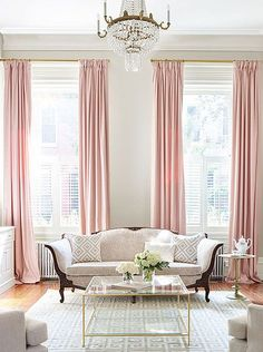 HOME-DZINE | Trends 2018 - With the Finishing Touches Made To Measure service you can order window blinds, curtains and decor made to exact measurements. Choose the perfect Millenial Pink window treatment for your home, whether its eyelet curtains, pencil pleats, double-pinch or wave headers. Made To Measure blinds include panel blinds, roller and double-roller blinds, Roman blinds, as well as vertical and Venetian blinds.