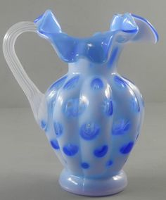 Fenton Art Glass Purple Lilac Coin Dot Pitcher  http://www.ebay.com/itm/Fenton-Art-Glass-Purple-Lilac-Coin-Dot-Pitcher-/330729044908?pt=LH_DefaultDomain_0=item4d00fcbbac#