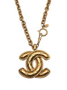 Chanel Vintage Logo Necklace - Amarcord Vintage Fashion - farfetch.fr