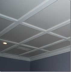 Drop Ceiling Basement, Basement Ceiling Options, Drop Ceiling Lighting, Drop Ceiling Tiles, Dropped Ceiling, Living Room Lighting, Basement Ideas, Basement Lighting, Rustic Basement