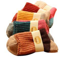 女性の冬厚みの暖かいウサギのウールの靴下女性高品質ブランドレトロ熱靴下5ペア/ロット
