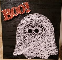 Made to Order Ghost String Art for Halloween by RubyOwlDesigns #Halloween #Ghost…