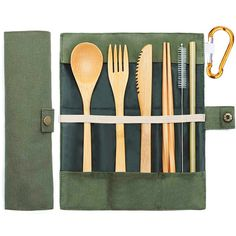Bamboo Travel Utensils Sustainable Bamboo Cutlery Set Spoon Knife, Knife And Fork, Utensil Set, Flatware Set, Buy Bamboo, Chopsticks, Corporate Gifts, Biodegradable Products, Adventure Travel