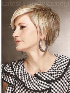 A short crop haircut - side view