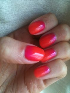 CND desert poppy shellac from the open road collection with shocking pink pigment (CND additives pigment in haute pink)