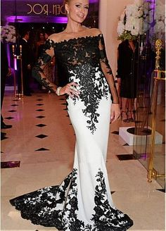 Elegant Stretch Satin Jewel Neckline See-through Full-length Mermaid Formal Dresses With Lace Appliques