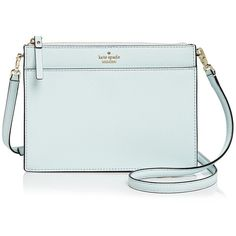 kate spade new york Cameron Street Clarise Leather Crossbody ($210) ❤ liked on Polyvore featuring bags, handbags, shoulder bags, blue shoulder bag, kate spade handbag, crossbody shoulder bag, cross-body handbag and blue leather purse