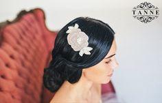 Bridal Headpiece Wedding Hair Comb Bridal Comb by DesignedByTanne