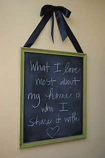 Perfect for the chalkboard :)
