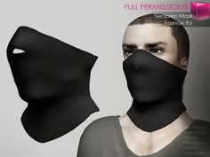 Mesh Rigged and Non-rigged Neoprene Mask - Fashion Kit
