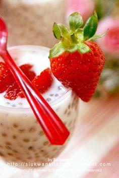 Strawberry Basil Pearl Tea Pearl Tea, Basil, Strawberry, Favorite Recipes, Chocolate, Fruit, Desserts, Food, Tailgate Desserts