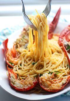 Lobster Spaghetti (Santorini Style) Recipe - RecipeChart.com