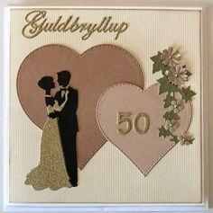432ed5ad15b Guldbryllup Jubilæumskort, Bryllupsdag, Bryllupskort, Bryllupsdag,  Fødselsdagskort, Projekter Til At Prøve,